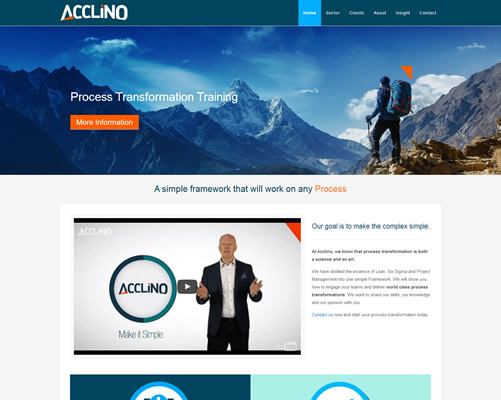 Web Design Limerick for Acclino
