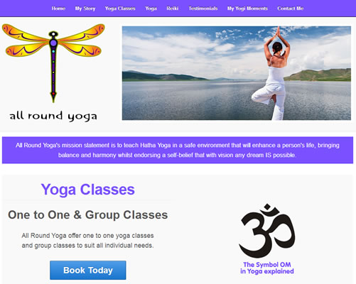 Web Design Cork for All Round Yoga