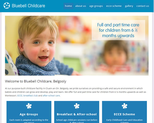 Web Design Cork for Bluebell Childcare