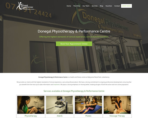 Web Design Donegal for Donegal Physio