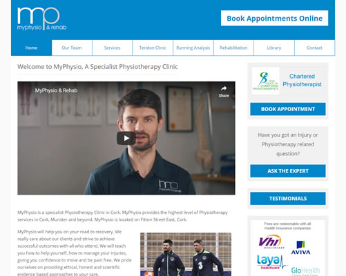 Web Design Cork for MyPhysio