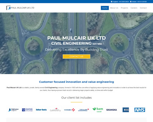 UK Web Design for Paul Mulcair Ltd