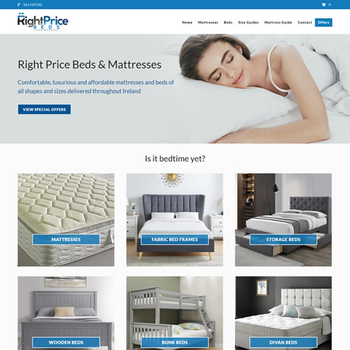 Website for Right Price Beds