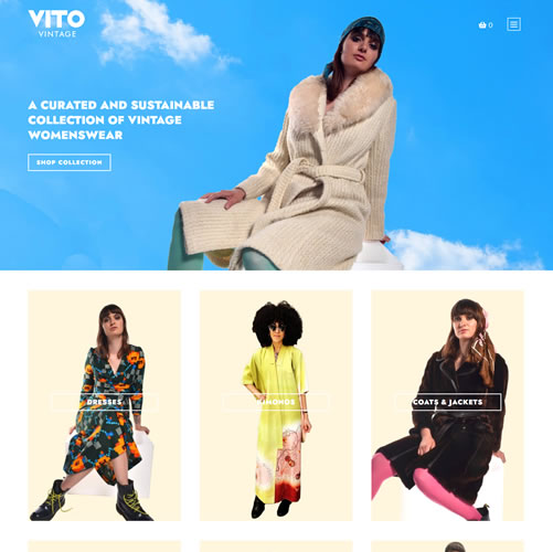 Website for Vito Vintage Clothing